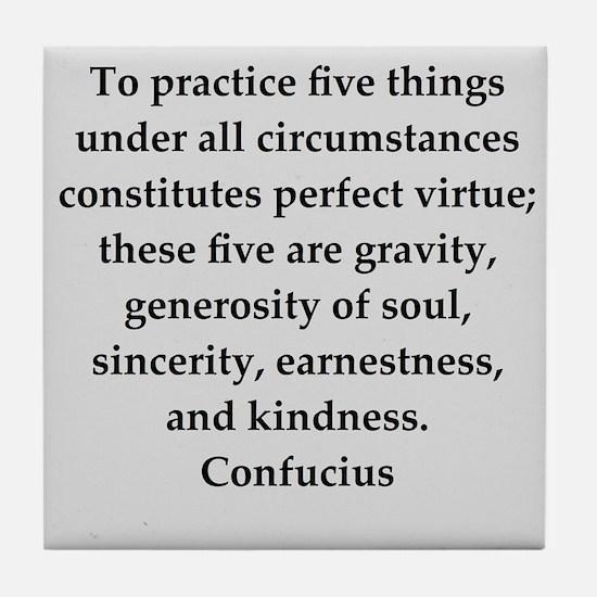 confucius wisdom Tile Coaster