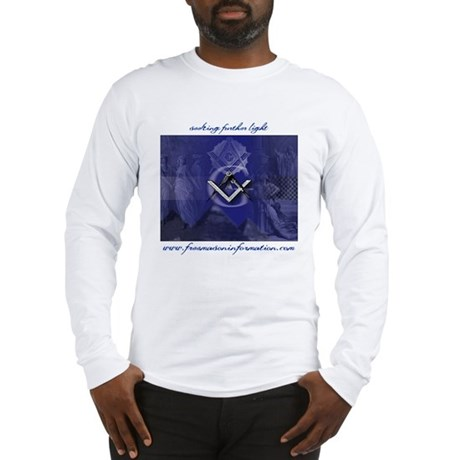 bluelargewithtext.p... Long Sleeve T-Shirt