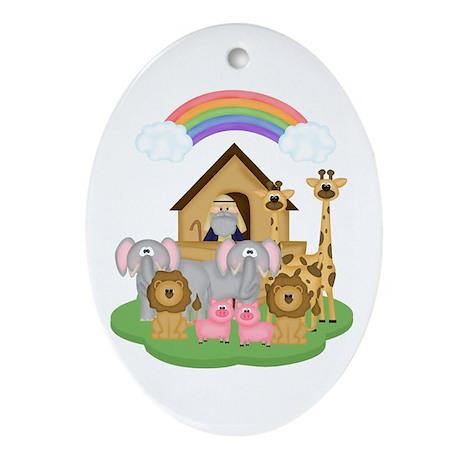 Noah's Ark Ornament (Oval)