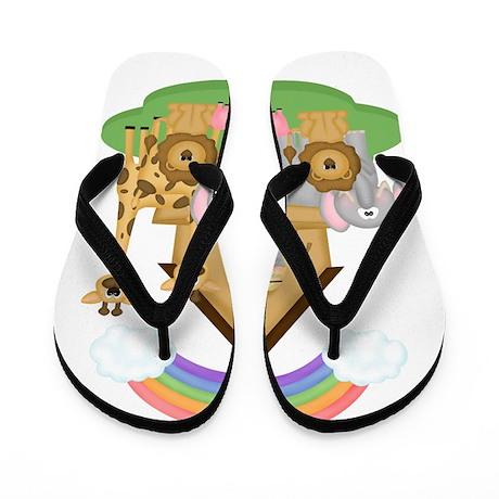 Noah's Ark Flip Flops