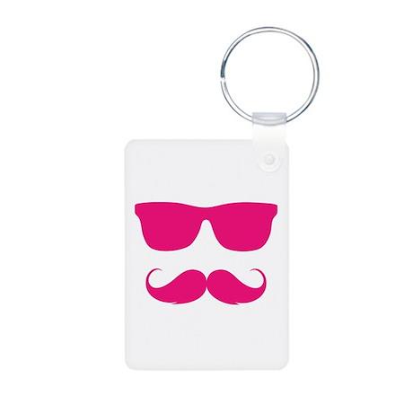 cool moustache Aluminum Photo Keychain