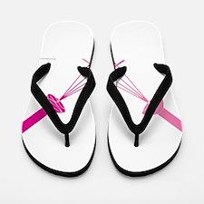 pink shower Flip Flops