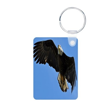 Majestic Bald Eagle Aluminum Photo Keychain