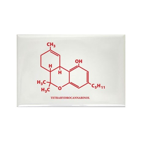 THC Molecule Rectangle Magnet (100 pack)