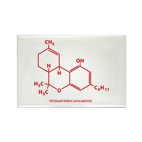 THC Molecule Rectangle Magnet (10 pack)
