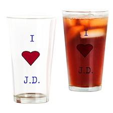 Heart J.D. Drinking Glass