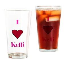 Heart Kim Drinking Glass