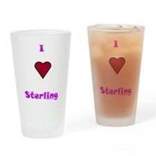 Heart Sterling Drinking Glass