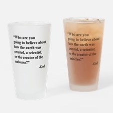 Scientist Vs God Drinking Glass