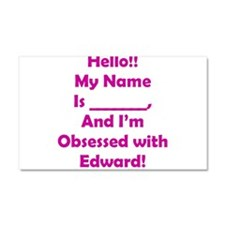 Hello!! I'm Obsessed Car Magnet 20 x 12