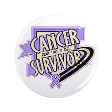 """Cancer Survivor 3.5"""" Button (100 pack)"""