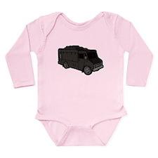 Food Truck: Basic (Black) Long Sleeve Infant Bodys