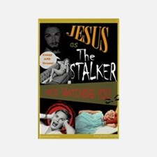 Stalker Jesus Rectangle Magnet