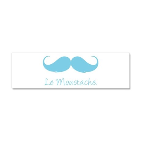 Le Moustache. Car Magnet 10 x 3