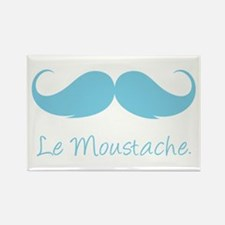Le Moustache. Rectangle Magnet (10 pack)