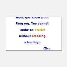 Eggs or Broken Legs Car Magnet 20 x 12