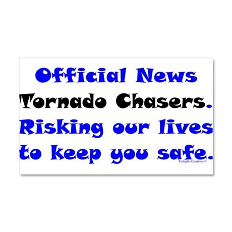 Official Tornado Chasers Car Magnet 20 x 12