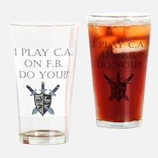 CA on FB Drinking Glass