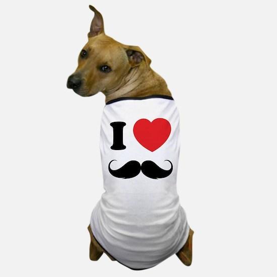 I love moustache Dog T-Shirt