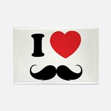I love moustache Rectangle Magnet (10 pack)