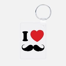 I love moustache Aluminum Photo Keychain