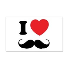 I love moustache 22x14 Wall Peel