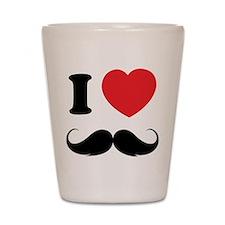I love moustache Shot Glass