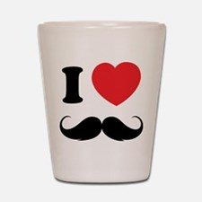 I love moustache Shot Glass