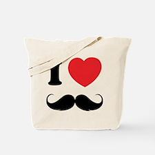 I love moustache Tote Bag