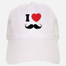 I love moustache Baseball Baseball Cap