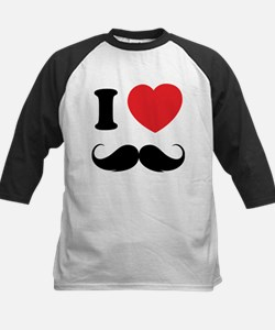 I love moustache Kids Baseball Jersey