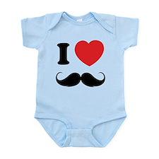 I love moustache Infant Bodysuit