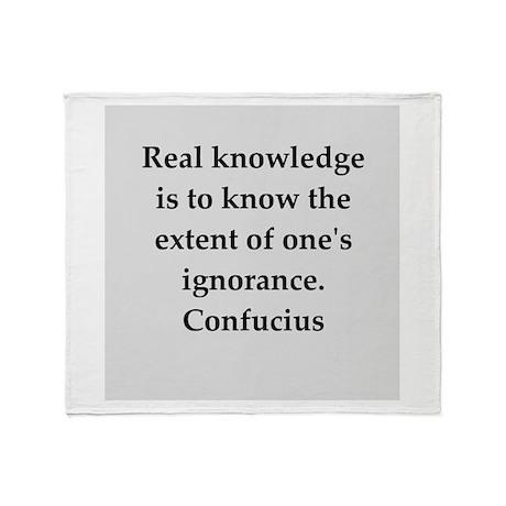 confucius wisdom Throw Blanket