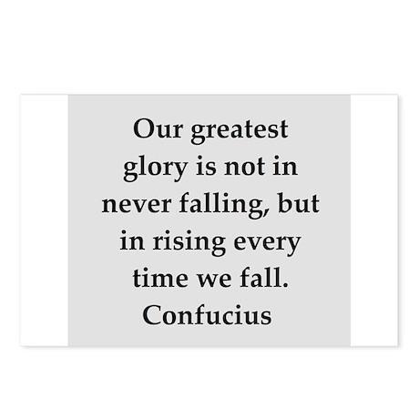 confucius wisdom Postcards (Package of 8)