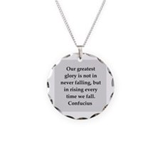 confucius wisdom Necklace Circle Charm