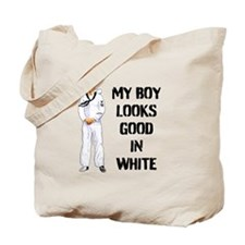 my sailor looks good in white Tote Bag