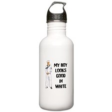 my sailor looks good in white Water Bottle