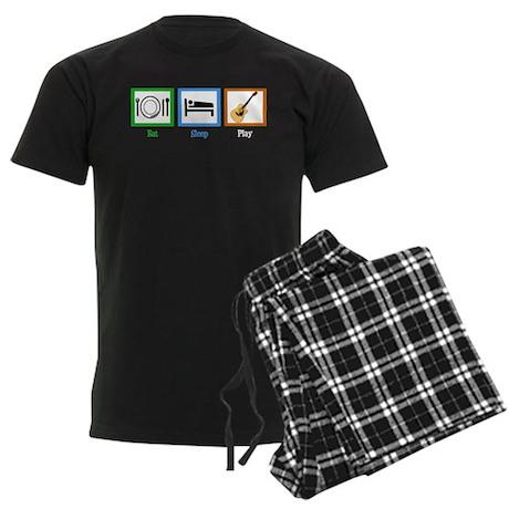 Eat Sleep Guitar Men's Dark Pajamas