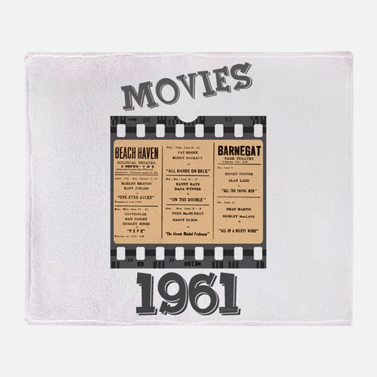 1961 Movies Throw Blanket