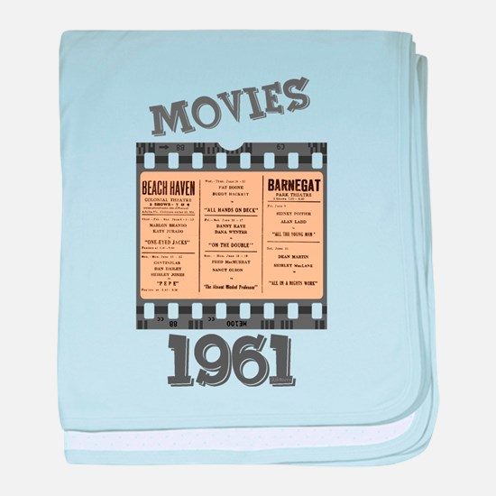1961 Movies baby blanket