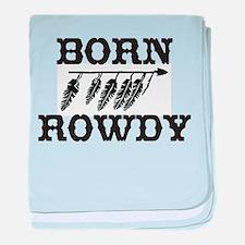 Born Rowdy Native American Lo baby blanket