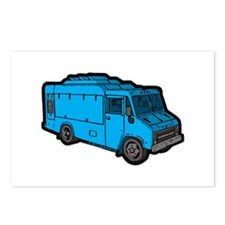 Food Truck: Basic (Blue) Postcards (Package of 8)
