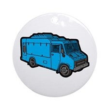 Food Truck: Basic (Blue) Ornament (Round)