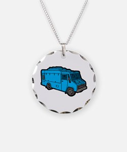 Food Truck: Basic (Blue) Necklace