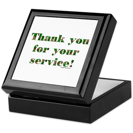 Camo Armed Forces Thank You Keepsake Box