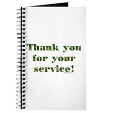 Camo Armed Forces Thank You Journal