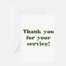 Camo Armed Forces Thank You Greeting Cards (Packag