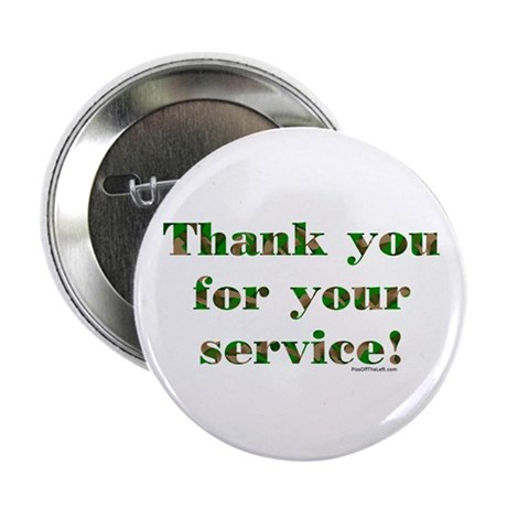 """Camo Armed Forces Thank You 2.25"""" Button (10 pack)"""