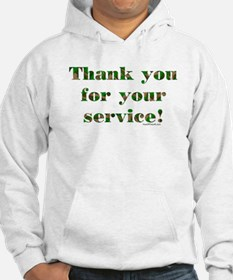 Camo Armed Forces Thank You Hoodie
