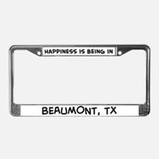 Happiness is Beaumont License Plate Frame